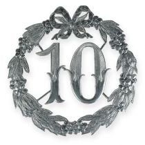 Anniversary number 10 in silver
