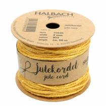 Jute cord yellow Ø2mm 50m