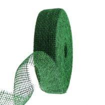 Jute ribbon dark green 5cm 40m
