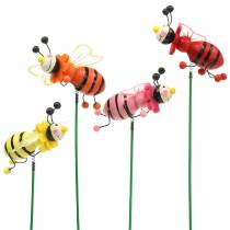Decorative plug beetle assorted colors H25cm 12pcs