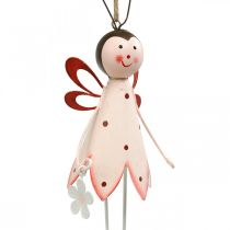 Beetle to hang, spring decoration, metal beetle with flower, decoration hanger 2pcs