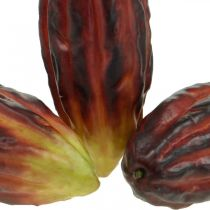 Artificially mixed cocoa pods, assorted purple, red-orange 18cm, set of 2