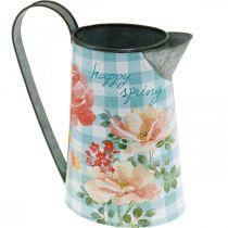 Flower vase decoration jug metal vintage garden decoration planter H23cm