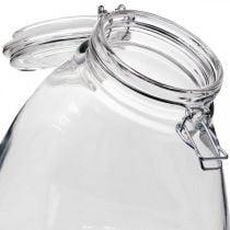 Large clear biscuit jar 22cm