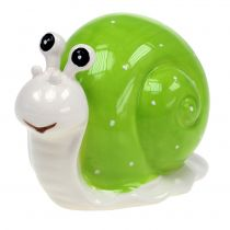 Ceramic snail 12cm green 4pcs