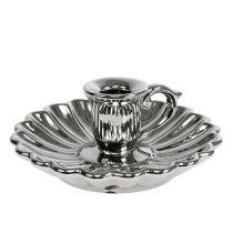 Candlestick ceramic silver Ø16cm