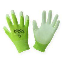 Kixx Nylon Gardening Gloves S.8 Light green, lime