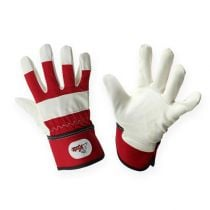 Kixx children gloves size 6 red, white