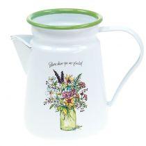Deco pot plant pot enamelled Ø12cm H16cm