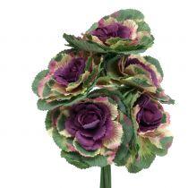 Artificial cabbage purple, green 25cm 6pcs