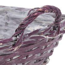 Basket angular 29cm x 23cm H10cm deep purple