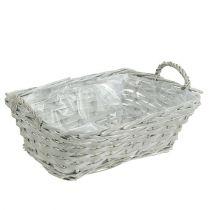 Basket angular gray 29cm x 23cm H10cm 1pc