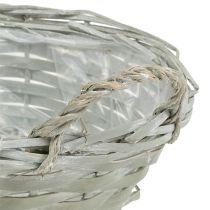 Basket round Gray Ø24cm H10cm 1pc