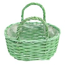 Basket for planting oval green 25cm x 17cm H14,5cm