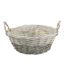 Plant basket round White washed Ø 26,5cm