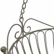Flower basket decorative plant basket rust white washed metal Ø28 / 22cm set of 2