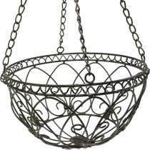 Decorative plant basket for hanging rust brown Ø24cm