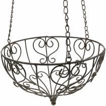 Decorative plant basket for hanging rust brown Ø26cm