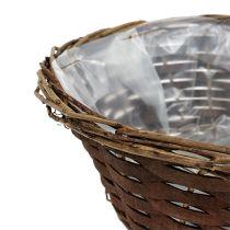 Basket bowl around Ø20cm H8cm unpeeled