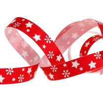 Curling ribbon red with star pattern 10mm 150m