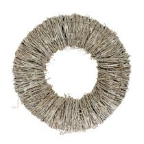 Wreath of clematis White washed Ø30cm