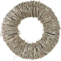 Wreath of clematis white washed Ø40cm