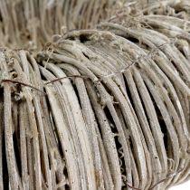 Clematis wreath white washed Ø40cm