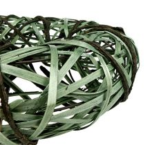 Wreath with willow and bark big green Ø45cm