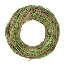 Bast wreath with willow nature/green Ø24cm