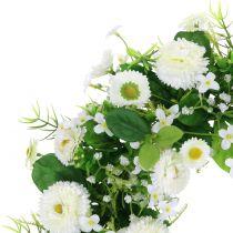 Wreath Bellis / Gypsophila cream Ø30cm