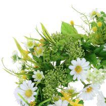Spring wreath with gerbera white, yellow Ø30cm