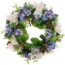 Wreath Hydrangea / Berries Purple Ø30cm