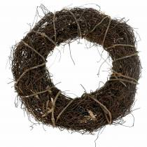Vine wreath with willow Ø35cm natural