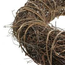 Vine wreath with willow Ø30cm