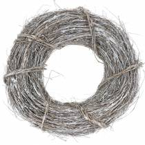 Decorative wreath willow Ø40cm washed white