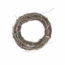 Decorative wreath willow Ø20cm, washed white