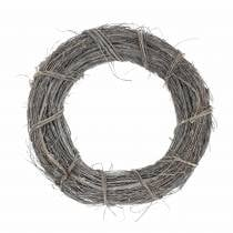 Decorative wreath willow Ø30cm, washed white