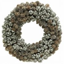 Decorative wreath cones larch cypress table wreath Christmas Ø30cm