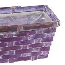 Woodchip basket cornered Purple / White / Pink 6pcs