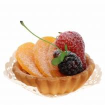 Tartlet peach artificial Ø8cm