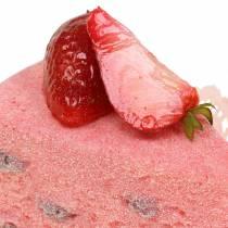 Pie piece of strawberry artificial 10cm