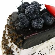 Cake piece chocolate artificial 10cm