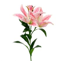 Artificial Lily Pink Real Touch 100cm