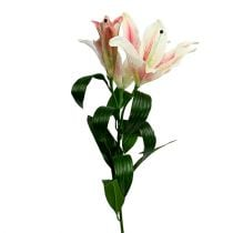 Artificial Lily Pink with Real Touch 100cm