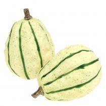 Decorative pumpkin cream, green 11cm 6pcs