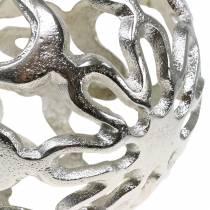 Decorative ball openwork metal silver Ø15cm