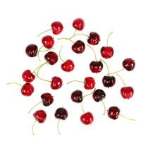 Artificial fruit sweet cherries mix Ø2.5cm 24pcs