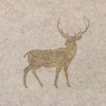Table runner felt deer nature 30cm x 120cm