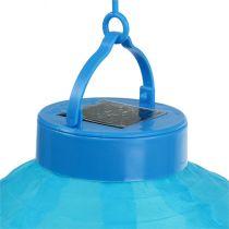 Lampion LED with solar 20cm blue