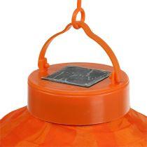 Lampion LED with solar 20cm orange